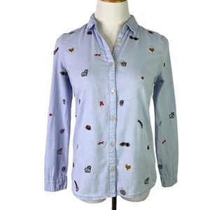 Scotch & Soda Clubhouse Royals Embroidered Shirt